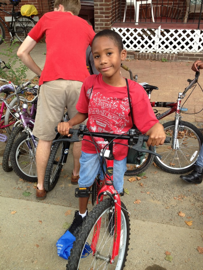 Bike recipient at Southbridge Community Event