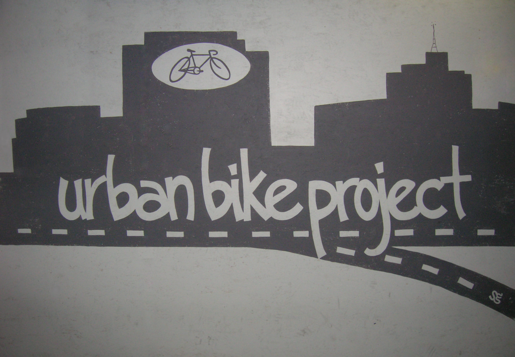 Urban Bike Project Wall Painting by Sarah Green