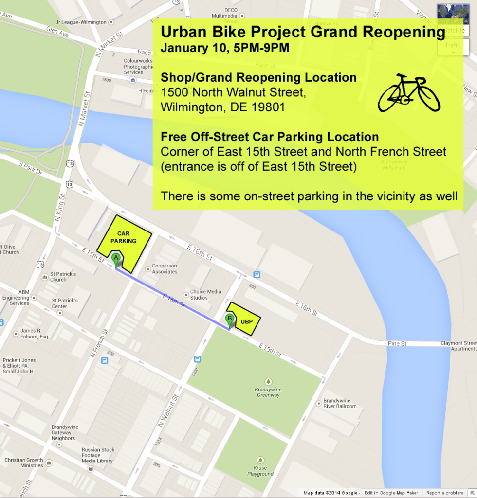 Parking map for January 10, 2014 Event at UBP