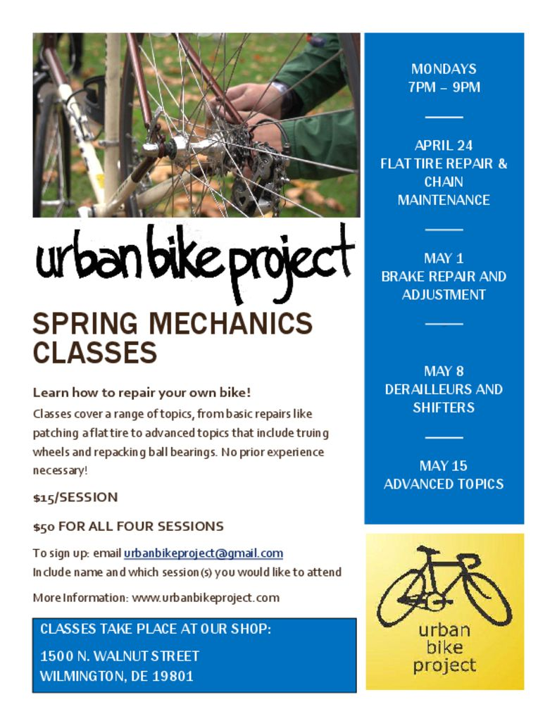 thumbnail of Spring Mechanics Class 2017 Flyer
